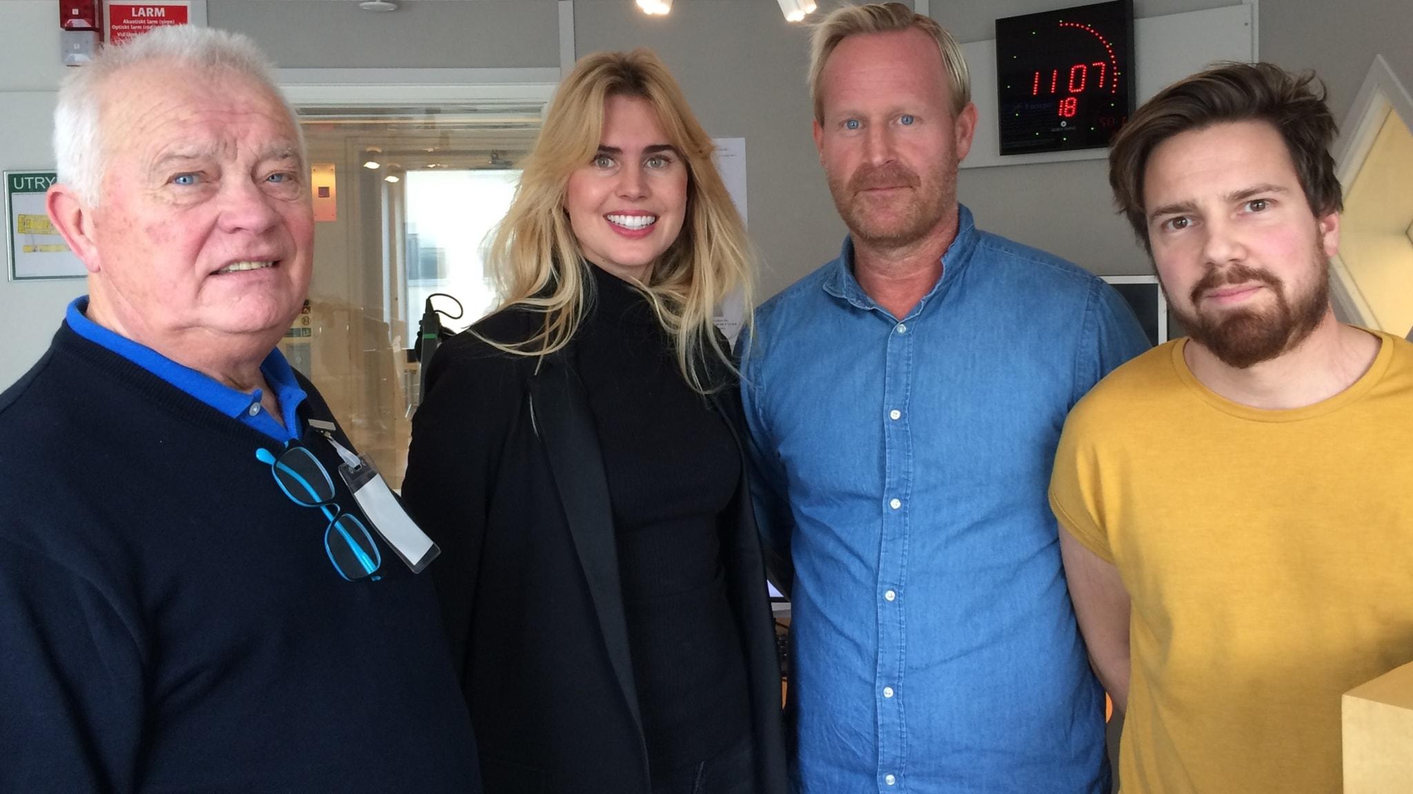 Från vänster i bild: L-G Jansson, Nina Wennerström, Magnus Wahlman och Martin Sundelius.