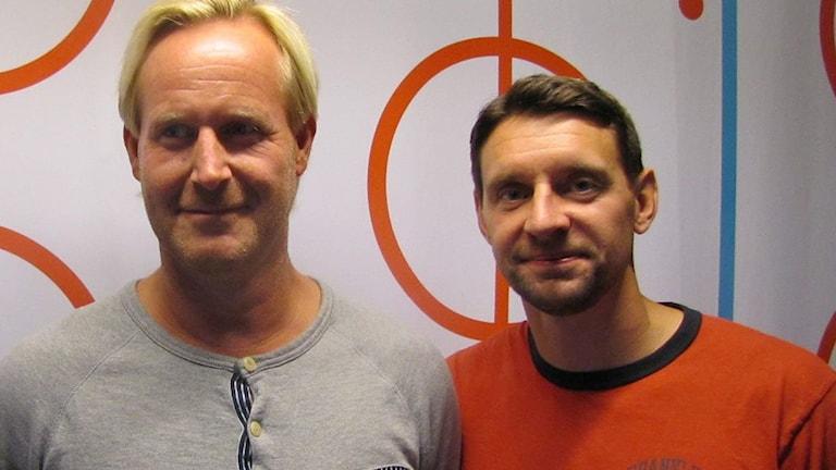 Magnus Wahlman och Kristofer Ottosson. Foto: SR.