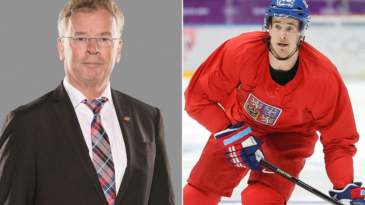 """Luleås sportchef Lars """"Osten"""" Bergström (t.v.) och tjecken Roman Cervenka. Foton: TT."""