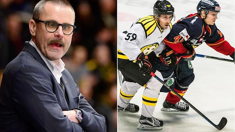 FBK-tränaren Tommy Samuelsson är kritisk till play in-spelet. L-G Jansson tror att Djurgården slår ut Brynäs, men Magnus Wahlman håller inte med.