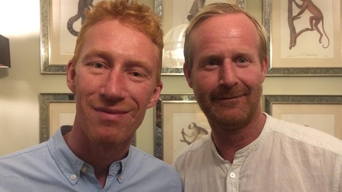 Radiosportens VM-referenter Jörgen Jönsson och Magnus Wahlman.