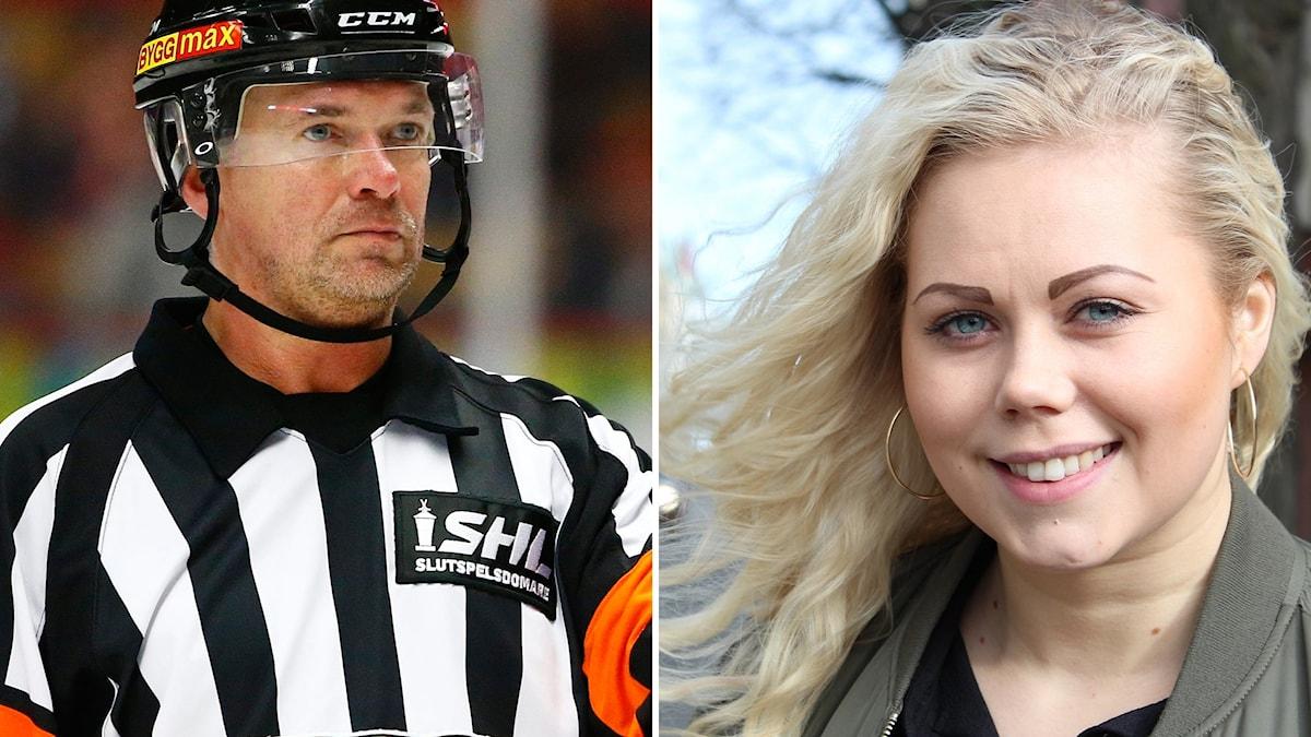 Christer Lärking, ansvarig för SHL:s situationsrum och HV71:s målvakt Sabina Eriksson medverkar båda i veckans Istid.