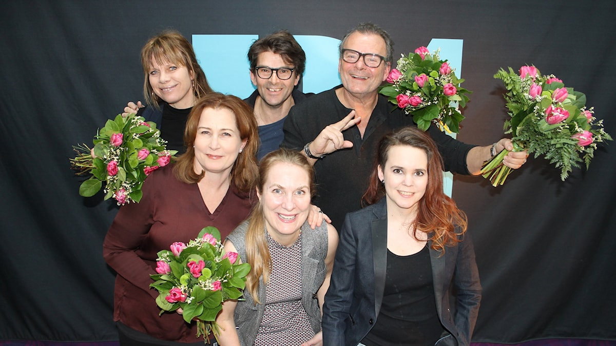 Carin Ahlqvist, Niklas Strömstedt, Steffo Törnquist, Anna Hedenmo, Annika Lantz och Sara Lövestam.