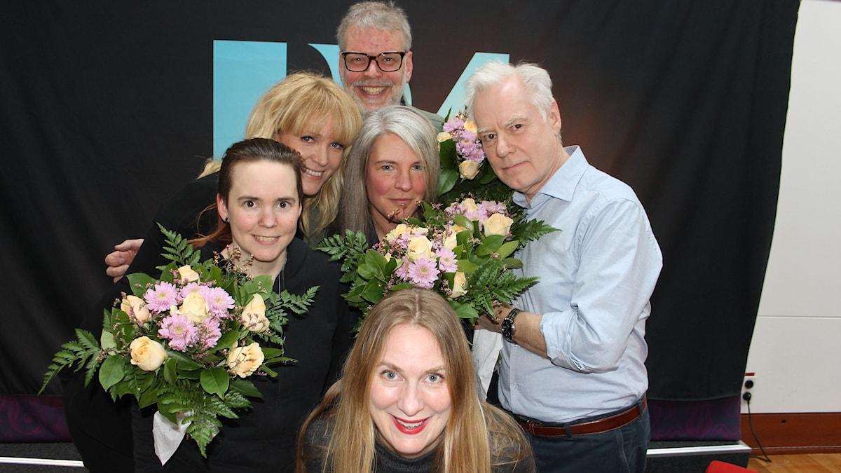 Sara Lövestam, Kattias Ahlström, Hans Rosenfeldt, Sara Stenholm Pihl, Olle Hägg och Annika Lantz.