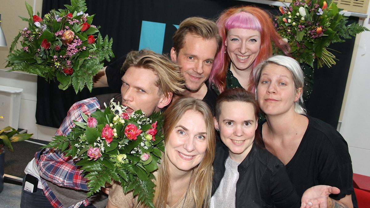 Henrik Torehammar, Henrik Johnsson, Josefin Johansson, Emma Knyckare, Annika Lantz och Sara Lövestam.