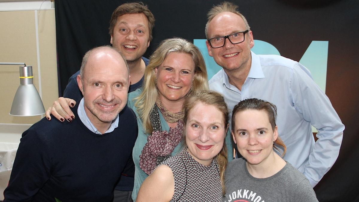 Thomas Ravelli, Johan Petersson, Camilla Kvartoft, Annika Lantz, Anders S Nilsson och Sara Lövestam.