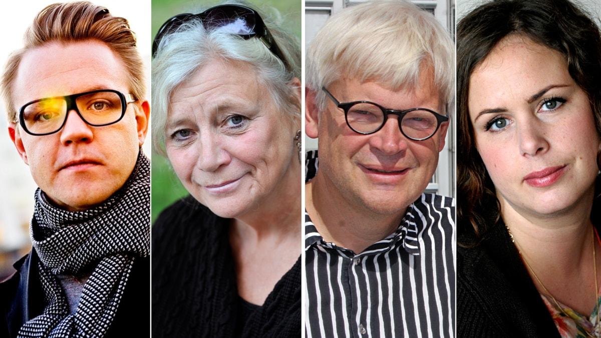 Fredrick Federley, Margareta Winberg, Thomas Nordegren och Hanna Hellquist. Foto: Patrik Lundin/Scanpix, Anders Wiklund/Scanpix, Benjamin Thorén/Sveriges Radio och Janerik Henriksson/Scanpix.
