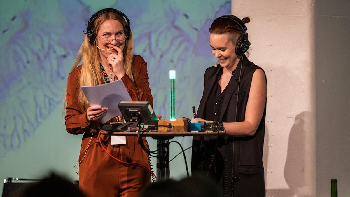 Annika Lantz och Sara Lövestam.