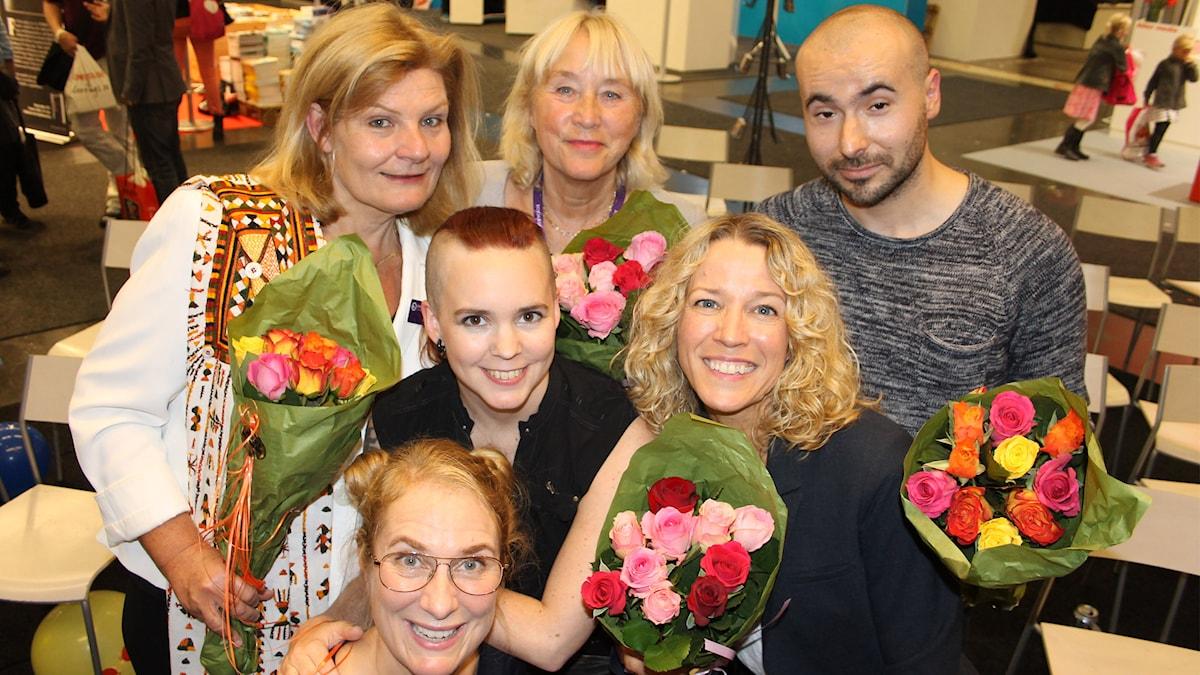 Cecilia Uddén, Britt-Marie Mattsson, Ylva Nilsson, Zulmir Becevic, Sara Lövestam, Annika Lantz