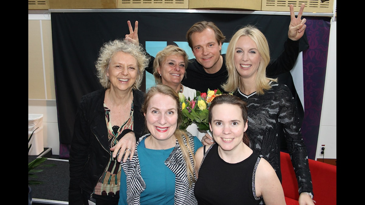 Annika Lantz med gästerna i lantzkampen.
