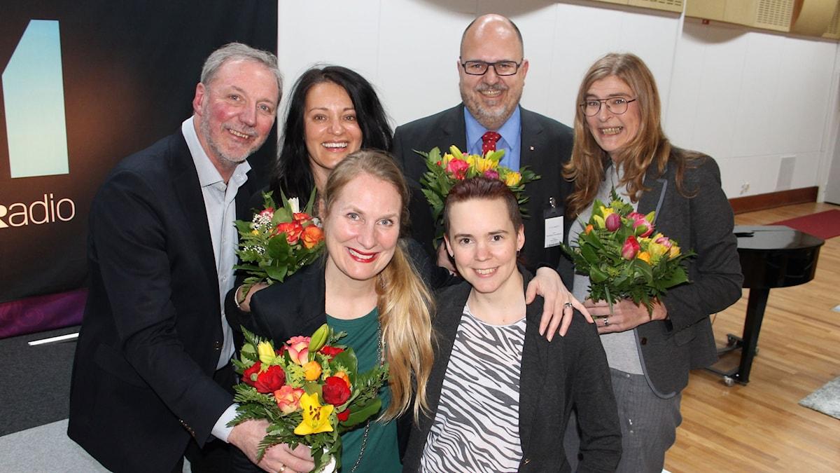 Åke Svensson, Marie Söderqvist, Annika lantz, Sara Lövestam, Karl-Petter Thorwaldsson och Therese Guovelin