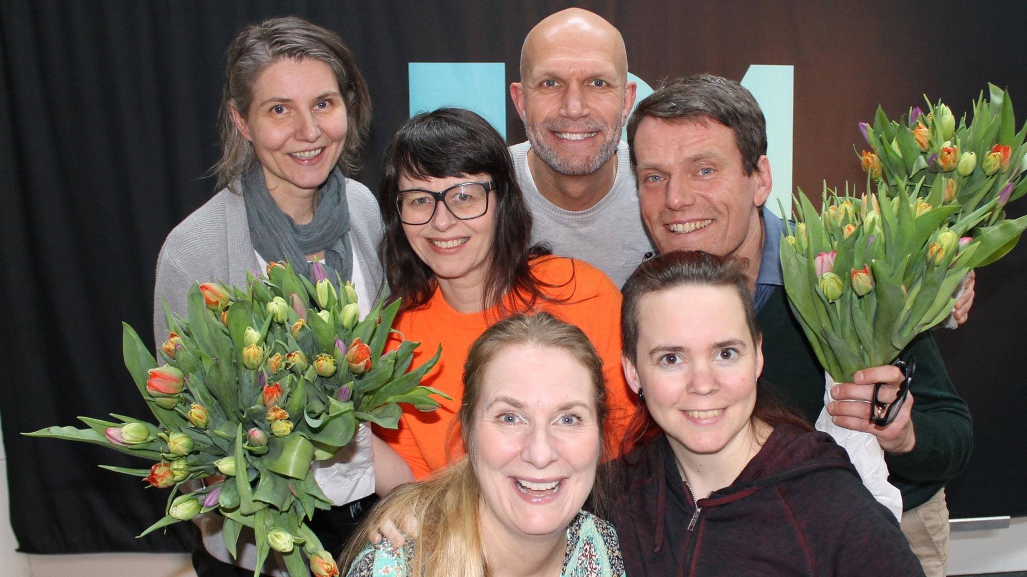 Henrik Hjelt, Mattias Konnebäck, Agneta Karlsson och Anna Charlotta Gunnarson!