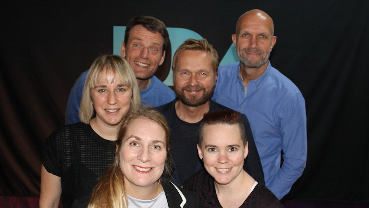 Hanna Fahl, Annika Lantz, Mattias Konnebäck, Björn Wiman, Sara Lövestam och Henrik Hjelt.