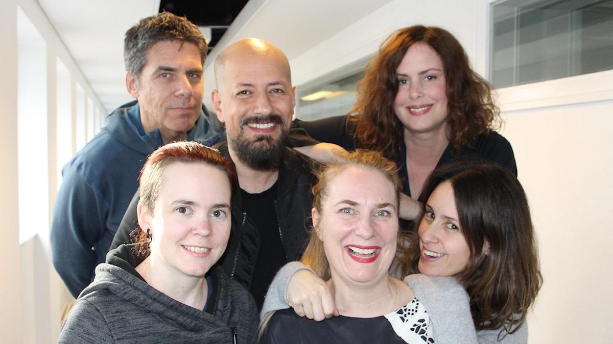 Hanna Hellquist, Mikael Tornving, Doreen Månsson och Tarik Saleh med Annika Lantz och Sara Lövestam.