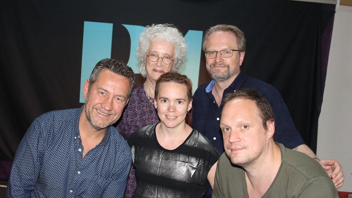 Sandro Scocco, Magdalena Ribbing, Sara Lövestam, Karsten Thurfjell och Jonatan Unge.