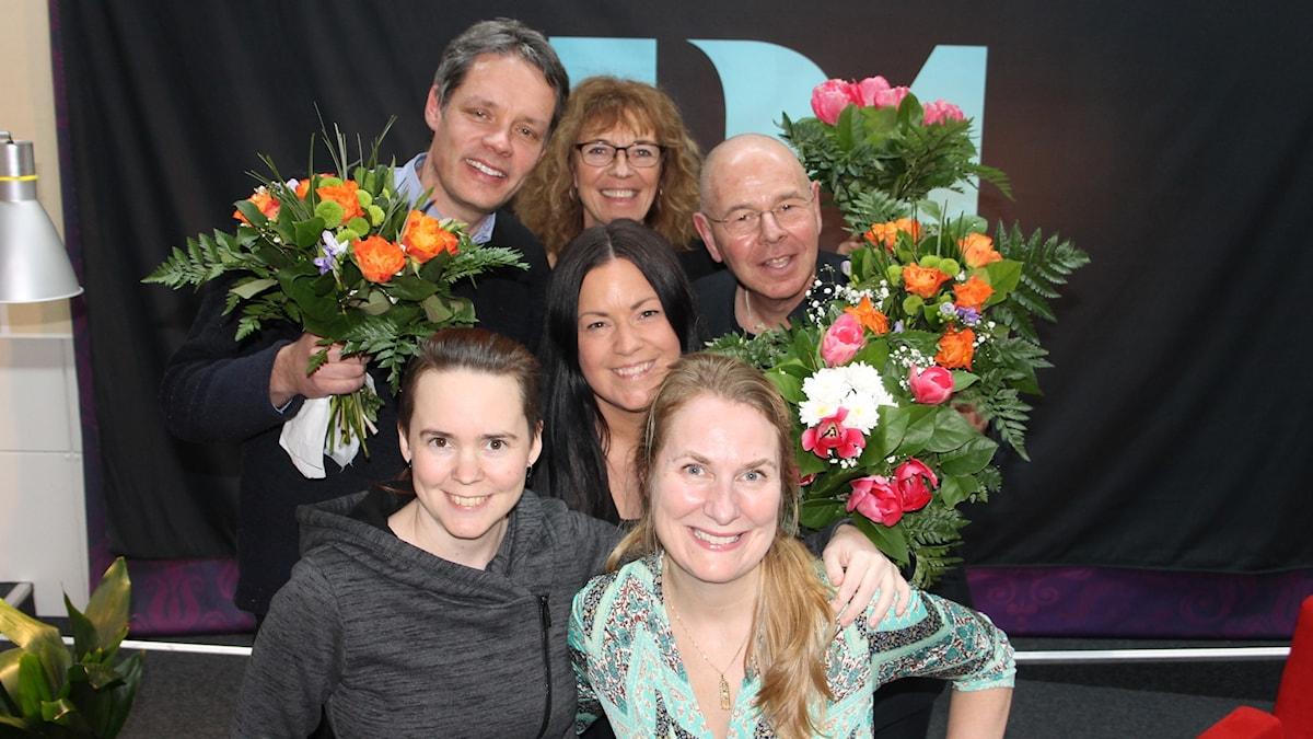 Ulf Danielsson, Margit Silberstein, Martina Thun, Willy Silberstein, Sara Lövestam och Annika Lantz.