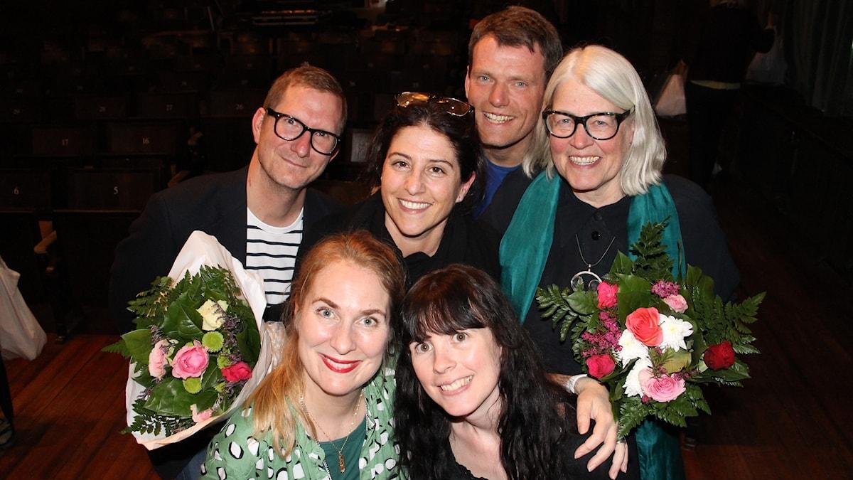 Christer Engqvist, Dilsa Demirbag-Sten, Mattias Konnebäck, Ulrika Knutson, Annika Lantz och Elin Lövestam.