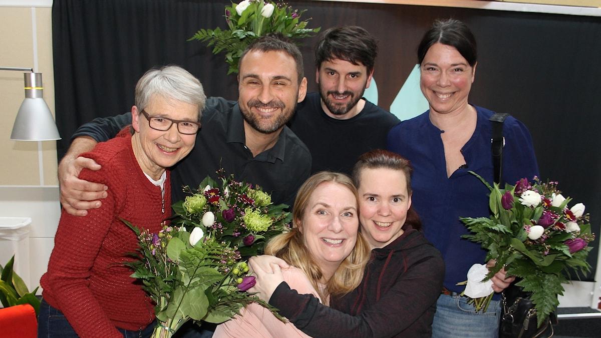 Marianne Hasslow, Johar Bendjelloul, Andrev Walden, Åsa Avdic, Annika Lantz och Sara Lövestam.