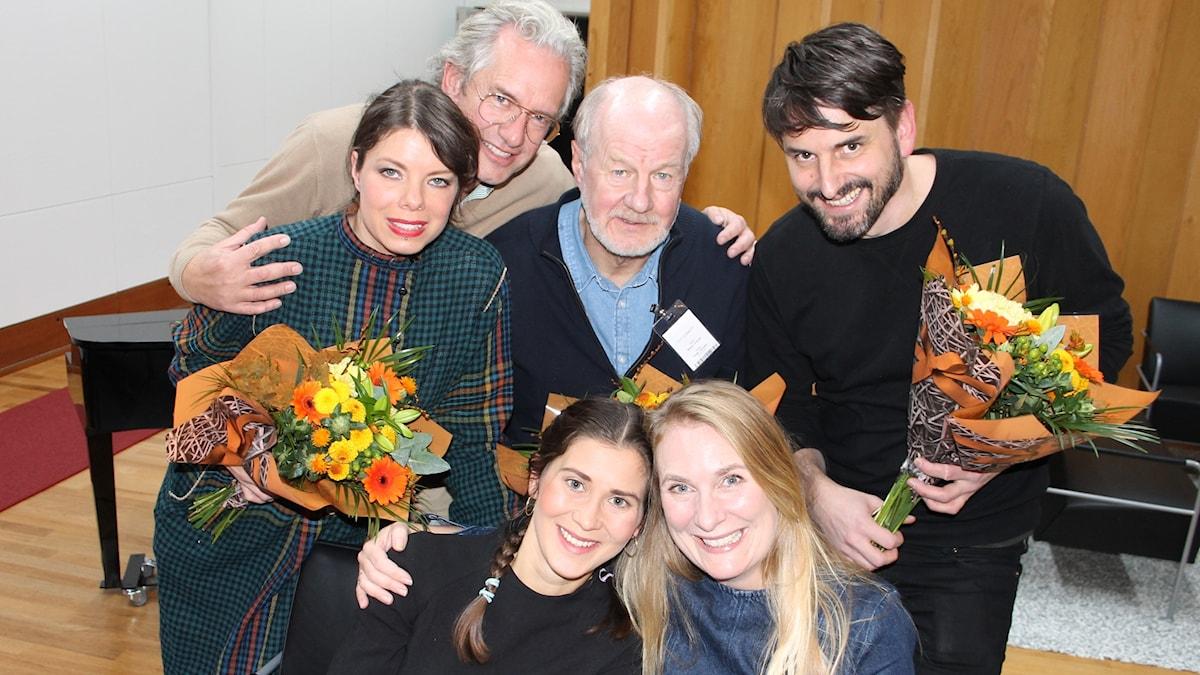 Thella Johnson, Anders G Carlsson, Bengt Lindroth, Andrev Walden, Stina Sämgård och Annika Lantz.