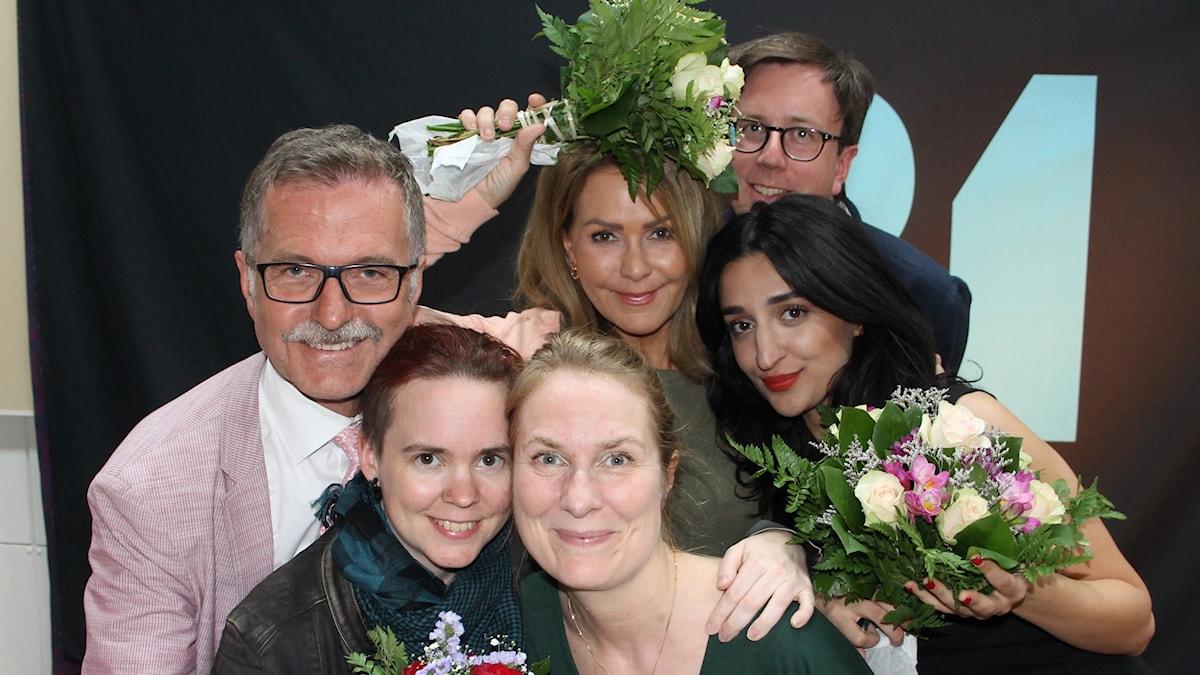 Ulf Kristofferson, Sara Lövestam, Annika Lantz, Anna Lindmarker, Eric Schüldt och Parisa Amiri.