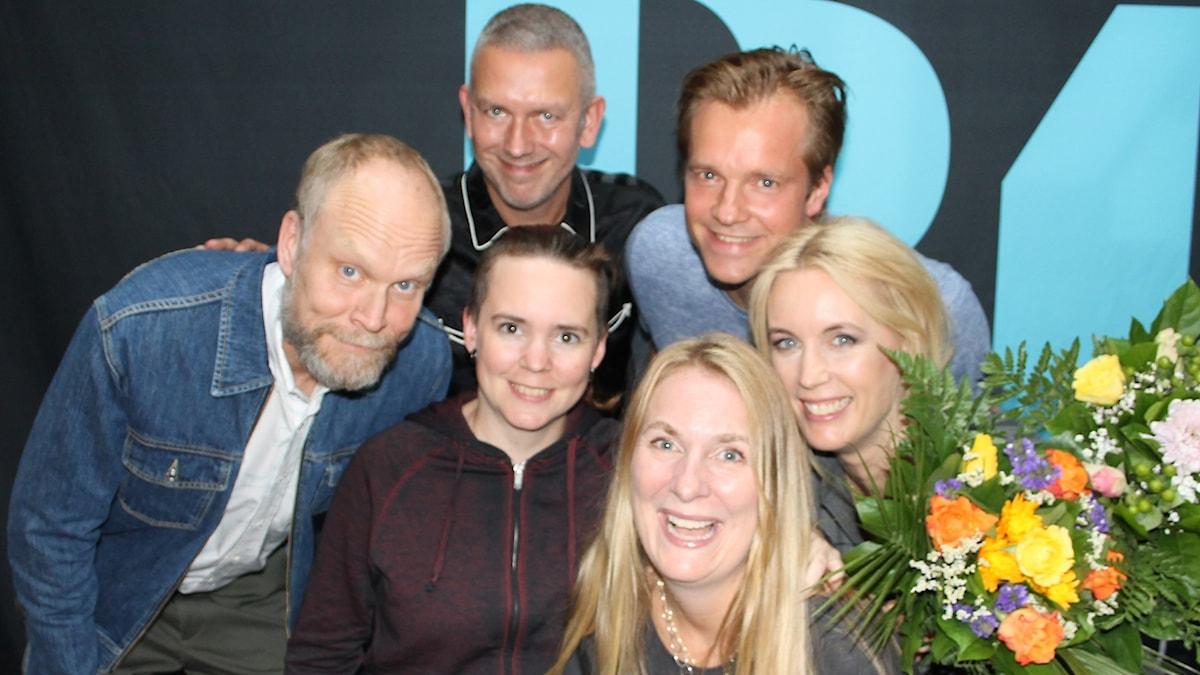 Kristian Luuk, Andres Lokko, Henrik Johnsson, Jenny Strömstedt, Sara Lövestam och Annika Lantz.