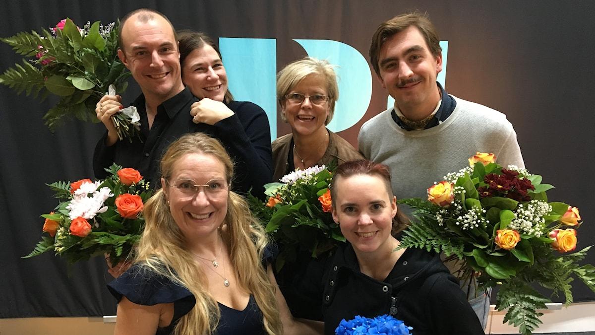 Johan Hilton, Kristin Lundell, Ingrid Carlberg, Jack Werner, Annika Lantz och Sara Lövestam!