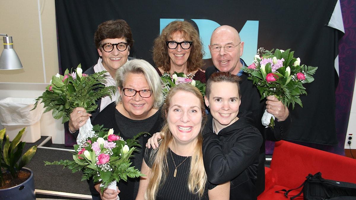 helle Klein, Karin Lennmor, Margit Silberstein, Willy Silberstein, Annika Lantz och Sara Lövestam.