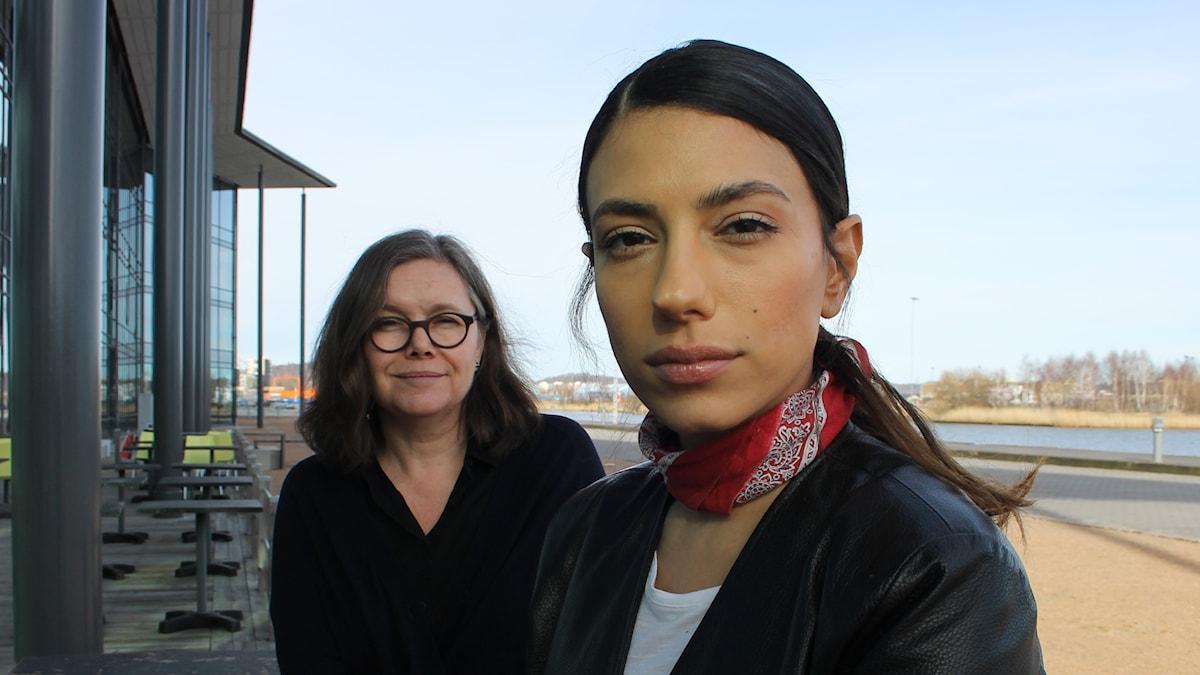 Anneli Dufva och Evin Ahmad .