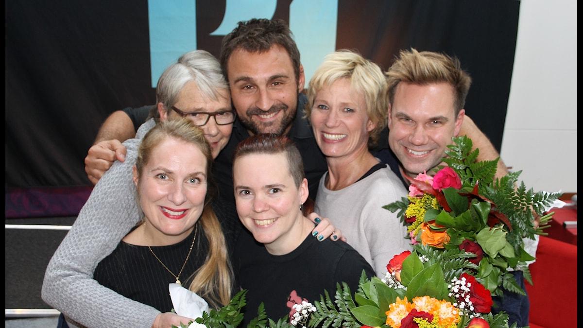 Annika Lantz, Marianne Hasslow, Johar Bendjelloul, Sara Lövestam, Ann Tiberg och Anders Pihlblad.