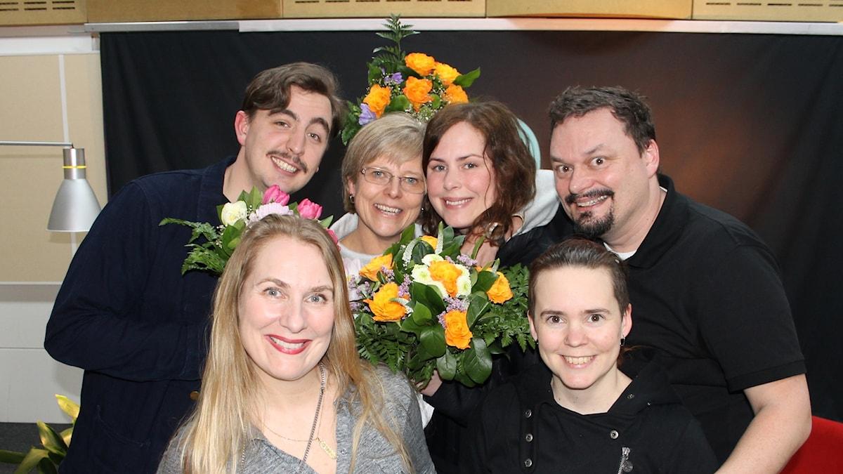 Jack Werner, Ingrid carlberg, Hanna Hellquist, Roger Wilson, Annika Lantz och Sara Lövestam.