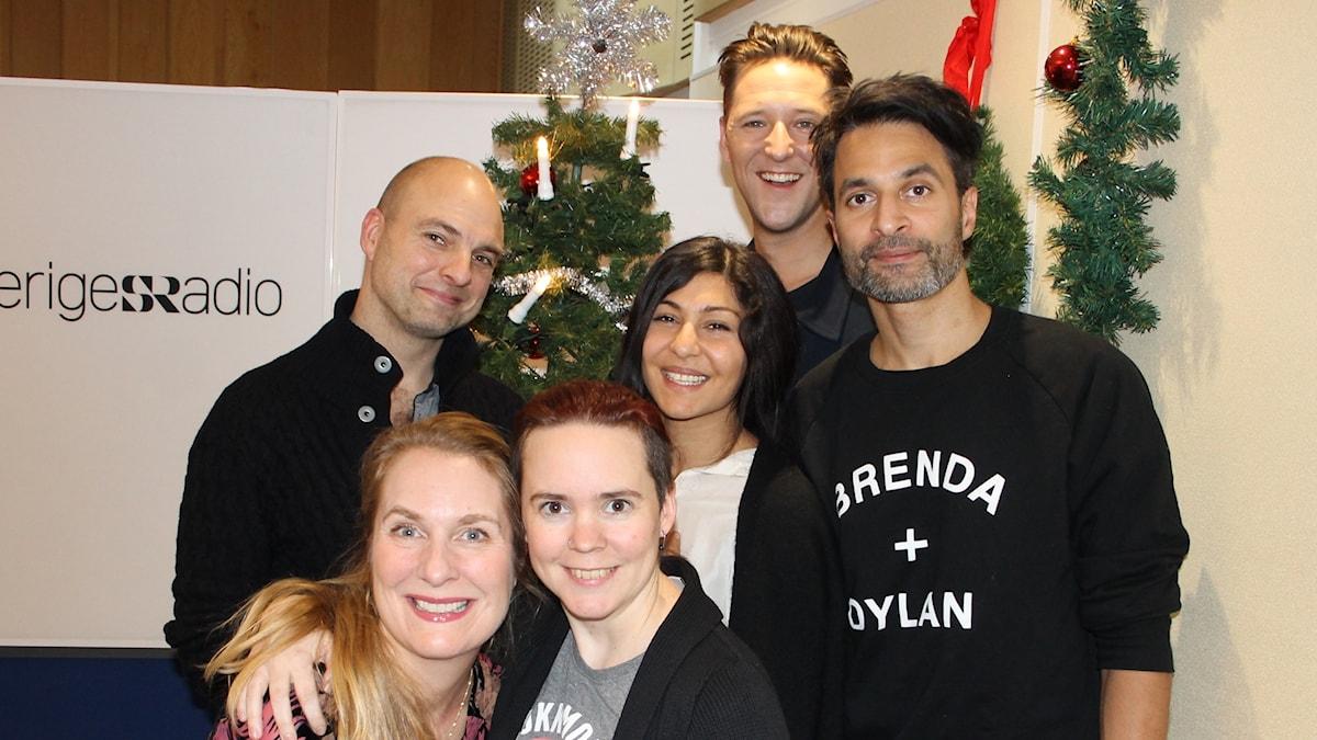 Kim Veerabuthroo Nordberg, Hannes Fossbo, Bahar Pars, Linus Tunström, Annika Lantz och Sara Lövestam.