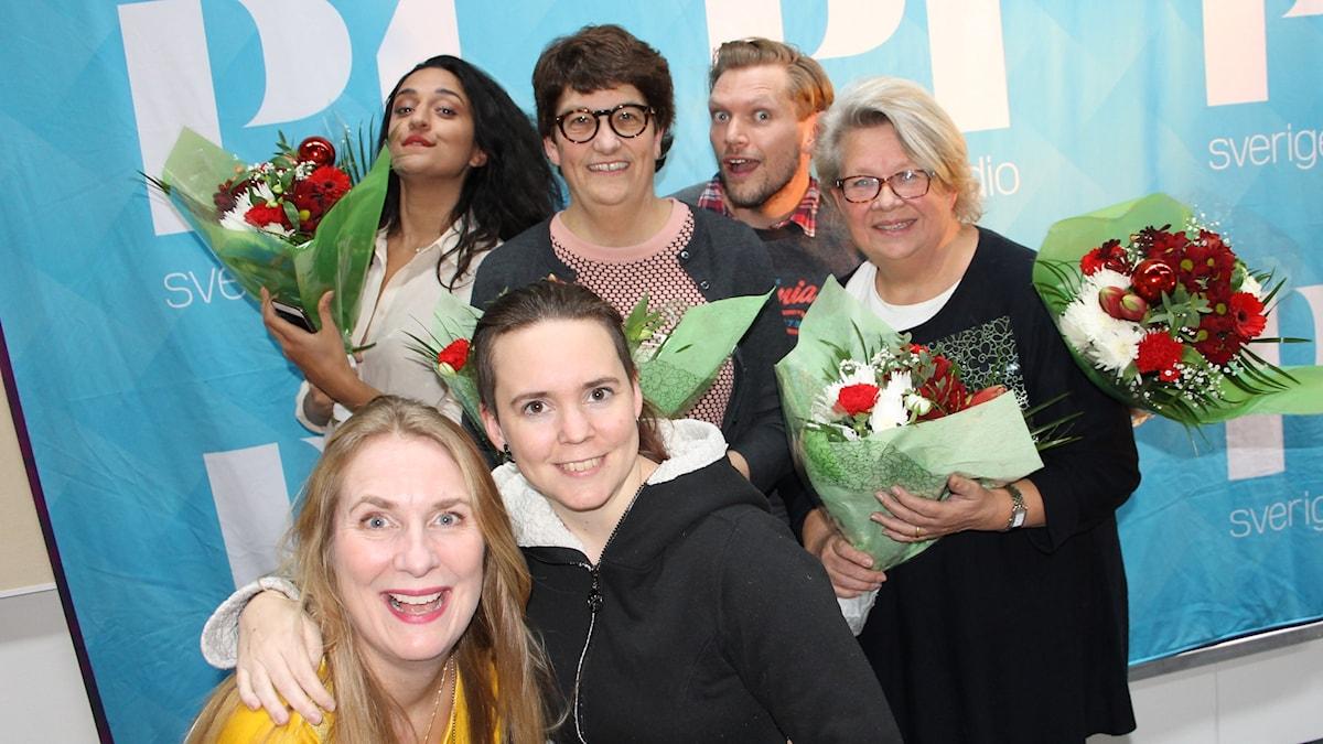 Parisa Amiri, Helle Klein, Henrik Torehammar, Karin Lennmor, Annika Lantz och Sara Lövestam!