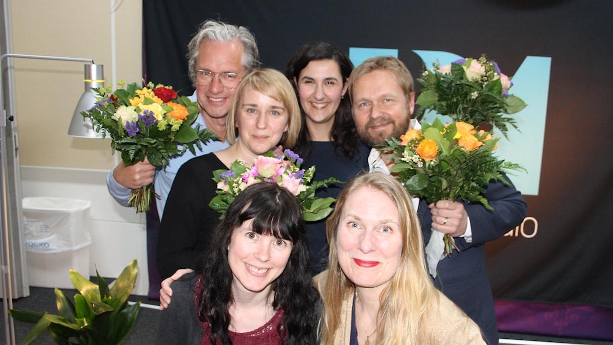 Hanna Fahl, Björn Wiman, Negra Efendić, Elin Lövestam, Annika Lantz och Anders G Carlsson