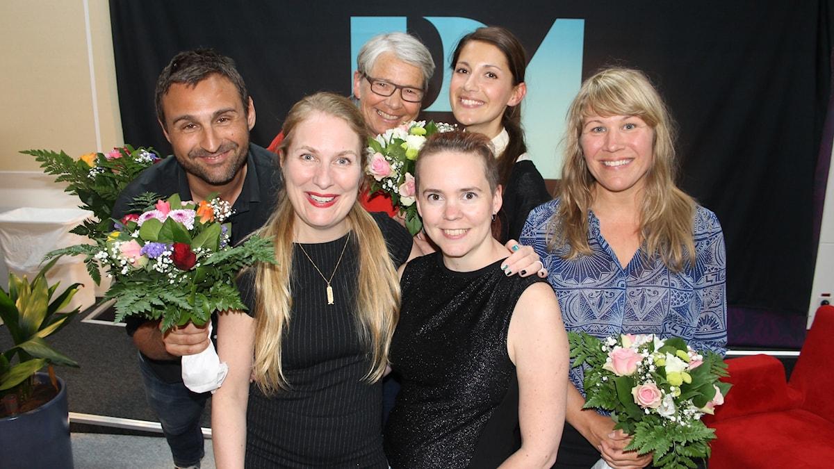 Johar Bendjelloul, Annika lantz, Marianne Hasslow, Sara Lövestam, Nina Nina Zanjani och Jenny Andreasson.