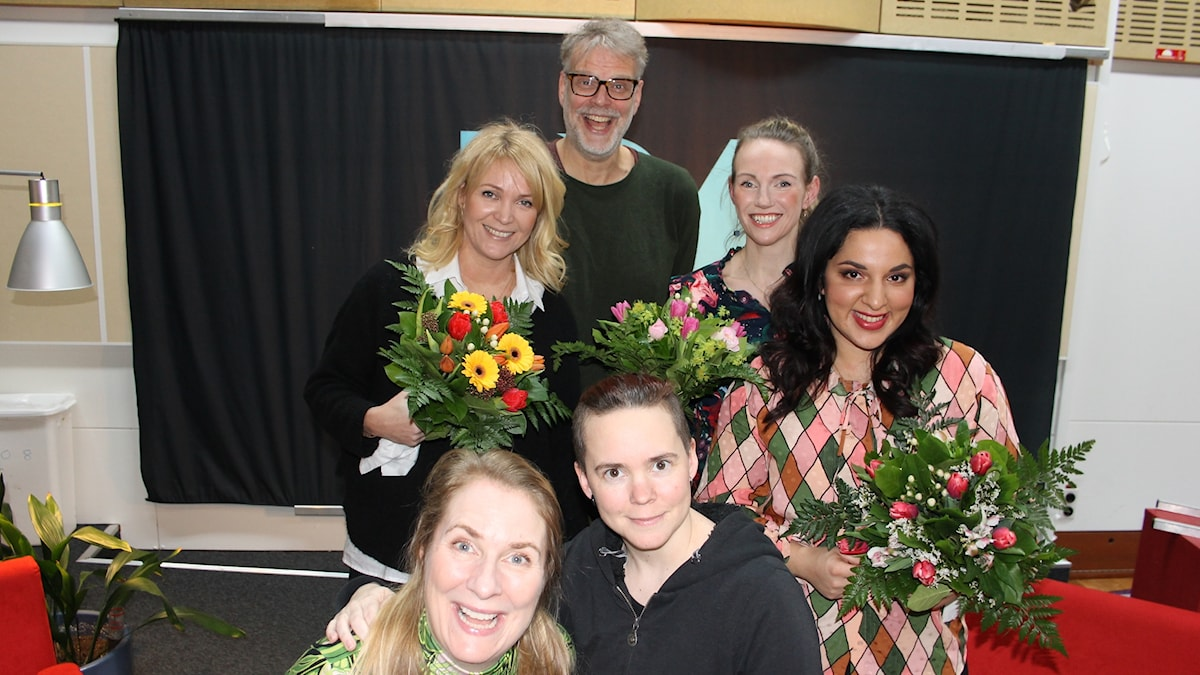 Kattis Ahlström, Hans Rosenfeldt, Tove Meyer, Tara Moshizi, Annika Lantz och Sara Lövestam.