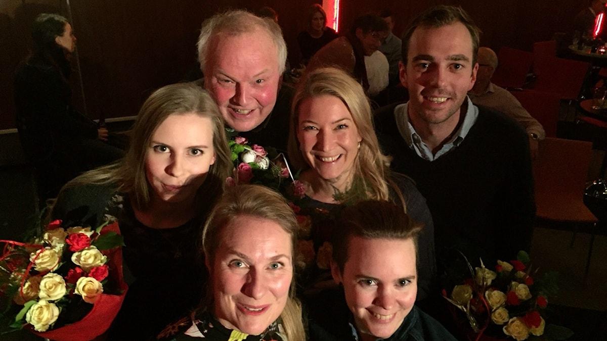 Hanna Wagenius, Putte Eby, Elin Olofsson, Kalle Olsson, Annika Lantz och Sara Lövestam.