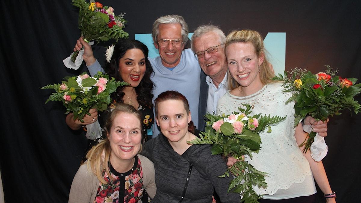 Tara Moshizi, Anders G Carlsson, Björn Eriksson, Tove Meyer, Annika Lantz och Sara Lövestam.