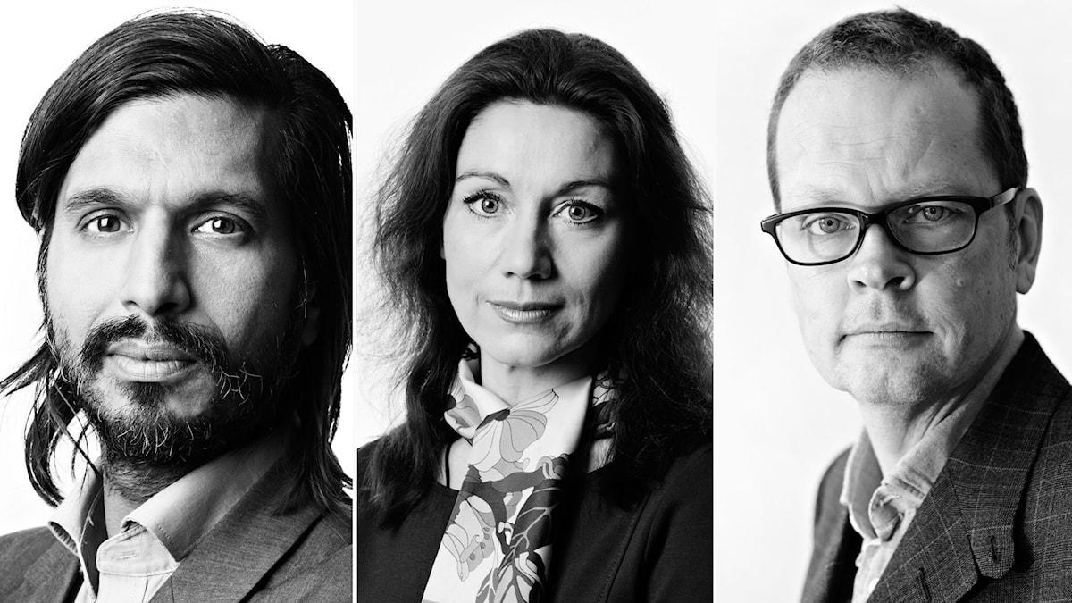 Qaisar Mahmood, Katarina Barrling, Ola SigurdsonFoto: Martina Holmberg/Sveriges Radio, Micke Grönberg/Sveriges Radio och Henrik Brunnsgård/Sveriges Radio