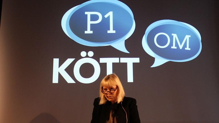 Bi Puranen. Foto: Emma Hallenberg / Sveriges Radio