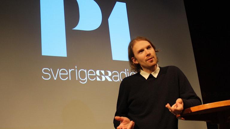 Peder Stenberg. Foto: Emma Hallenberg / Sveriges Radio
