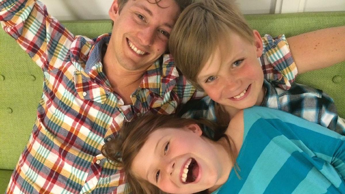 Kim, Herman och Stella. foto: Emmy Bergkvist