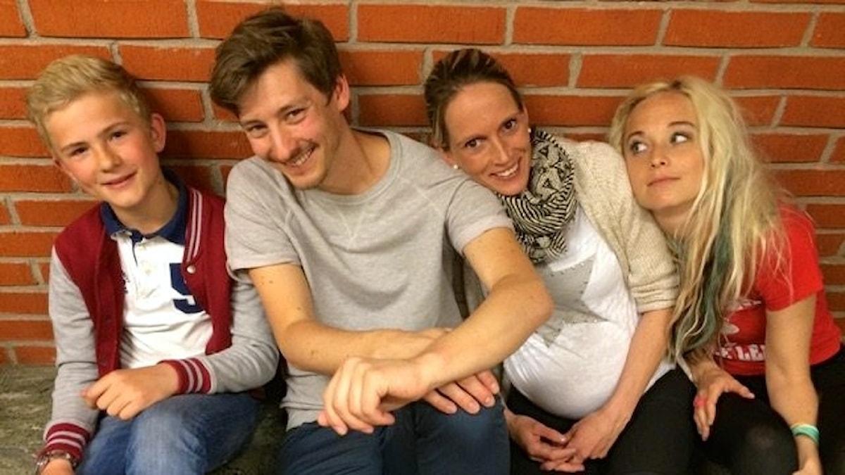 Hannes, Kim, Hanna och Amelie. foto: David Silva