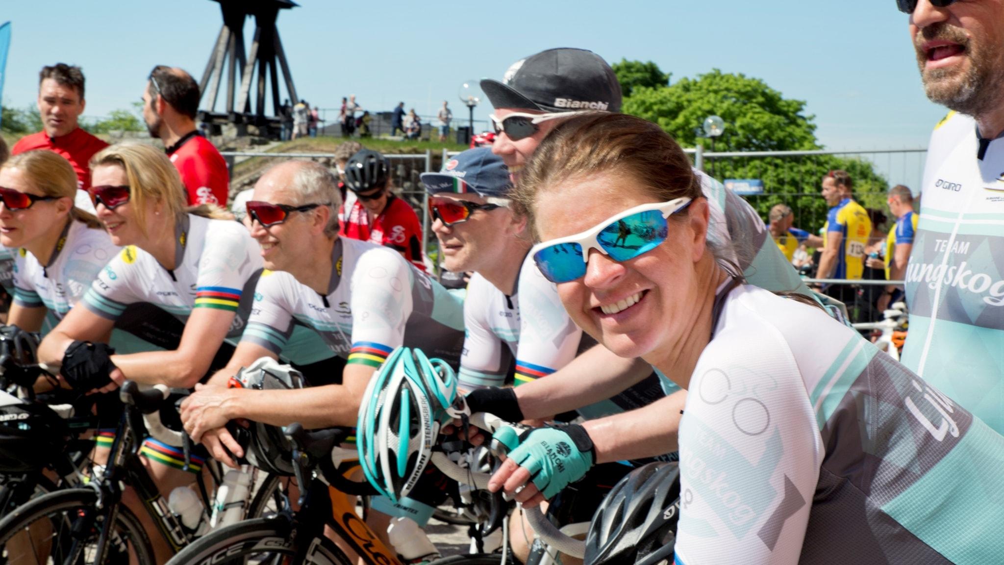 Kvinnligt cyklande