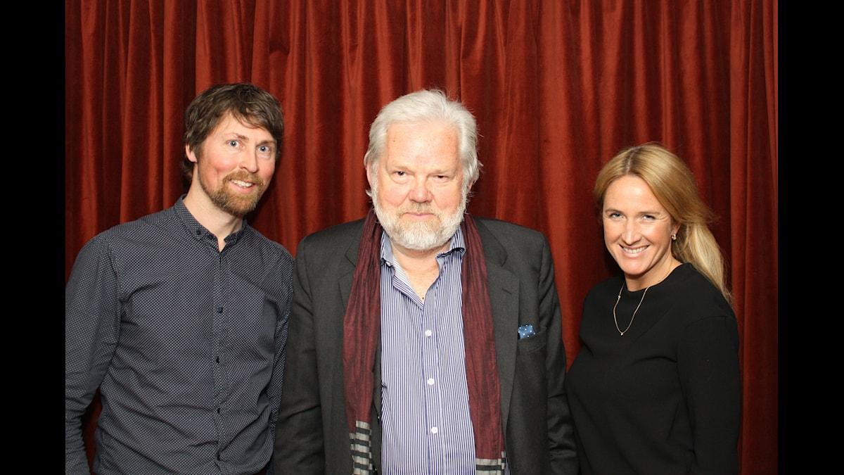 Natanael Derwinger, Kjell Albin Abrahamson, Denise Rudberg. Foto: David Rune/SR