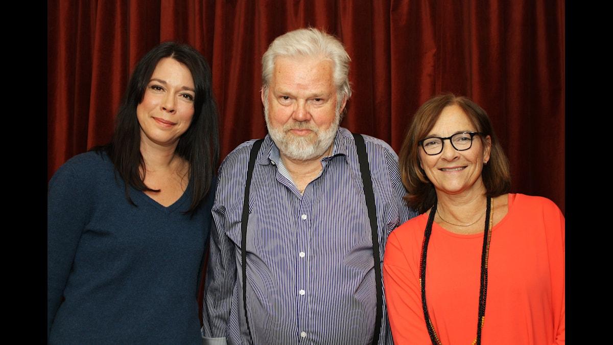Åsa Avdic, Kjell Albin Abrahamson, Hélène Benno. Foto: David Rune/SR