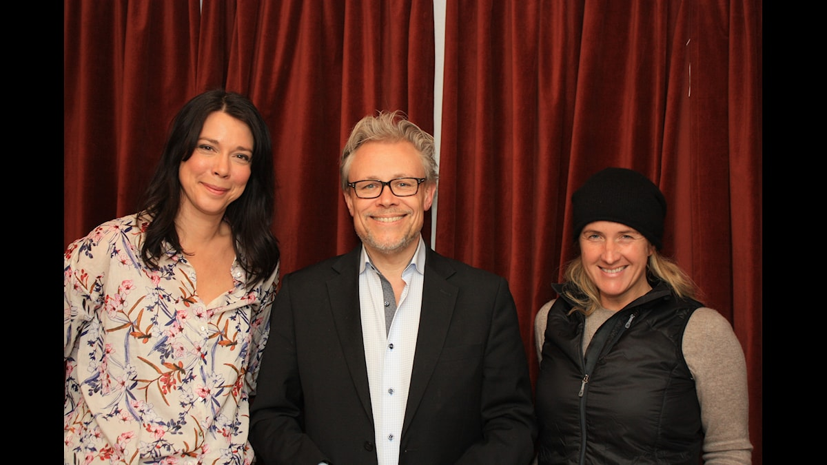 Åsa Avdic, Staffan Dopping, Denise Rudberg. Foto: David Rune/SR