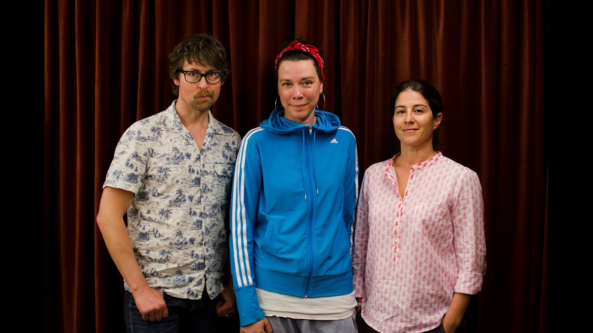 Natanael Derwinger, Åsa Avdic, Dilsa Demirbag-Sten. Foto: David Rune/SR