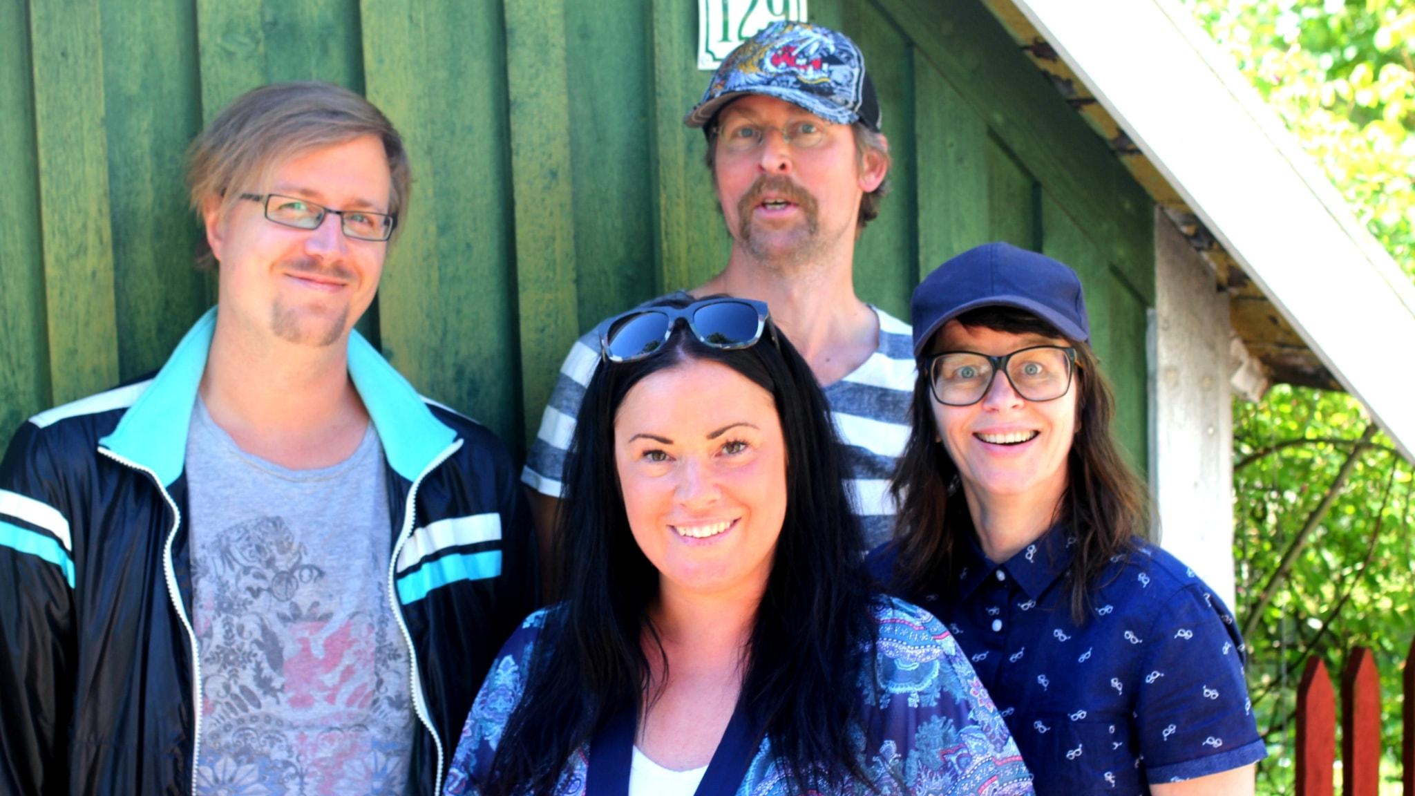 Jörgen Lötgård, Natanael Derwinger, Martina Thun och Anna-Charlotta Gunnarson