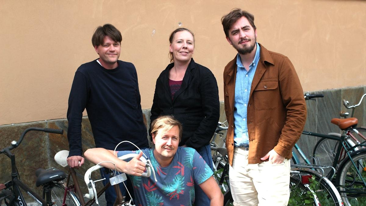 Daniel Sjölin, Martina Montelius, Jack Werner och Jörgen Lötgård