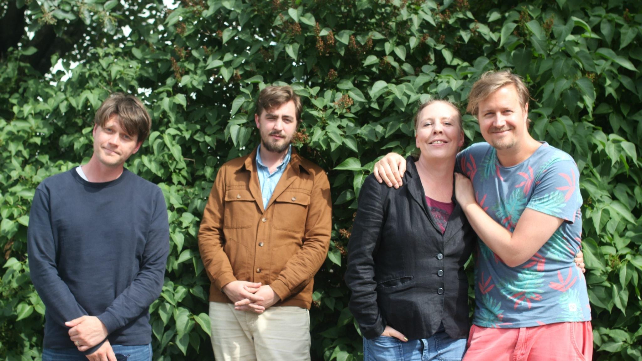 Daniel Sjölin, Jack Werner, Martina Montelius och Jörgen Lötgård